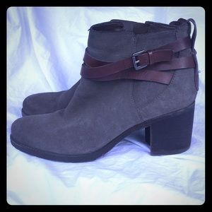 Like New! Sam Edelman Suede Leather Booties